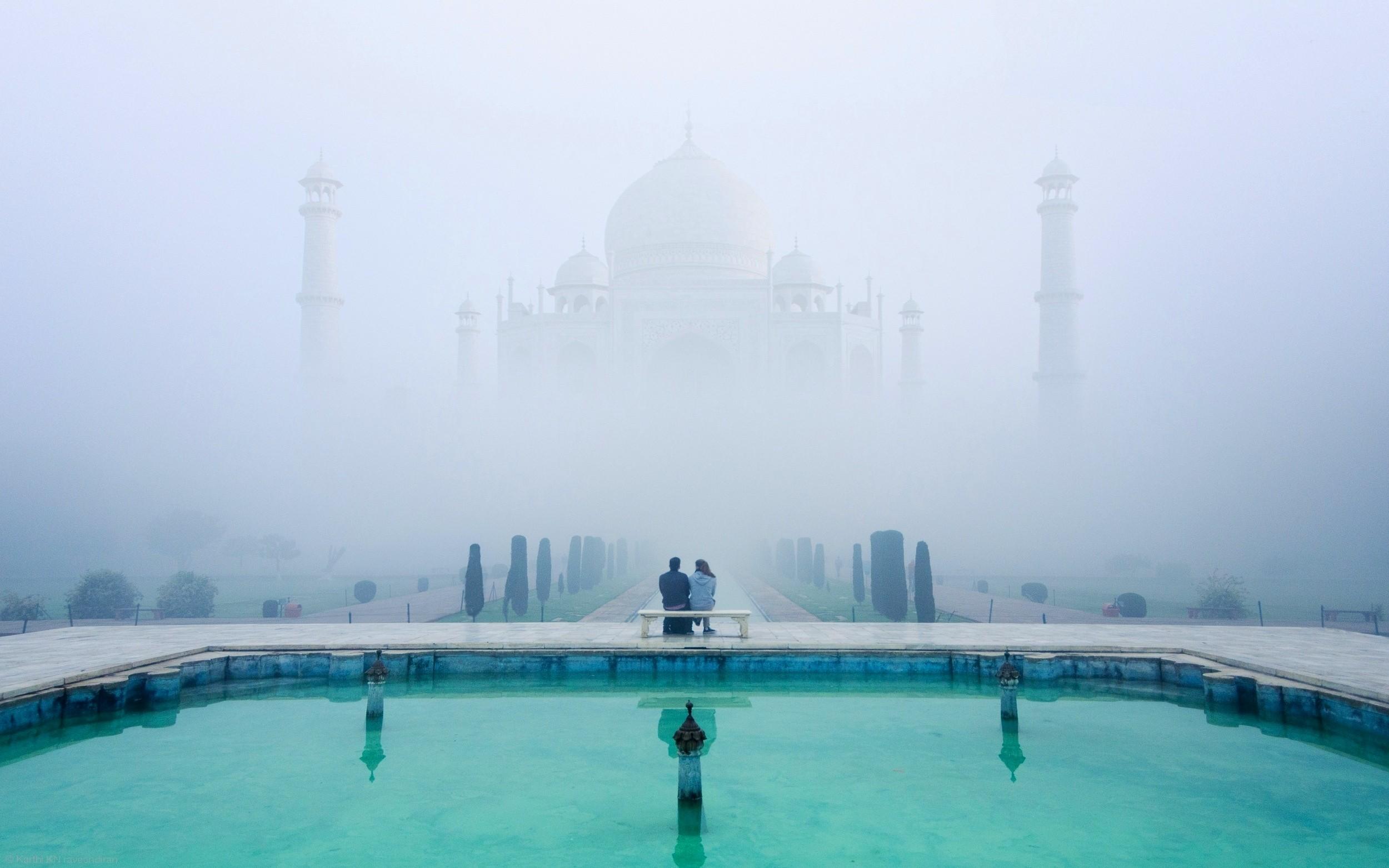Taj Mahal in the Fog